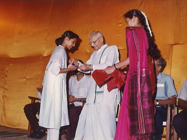 Award from Sri K V Narayanaswamy