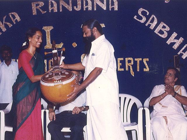 Award from Sri Karaikudi Mani R R Sabha Trichy
